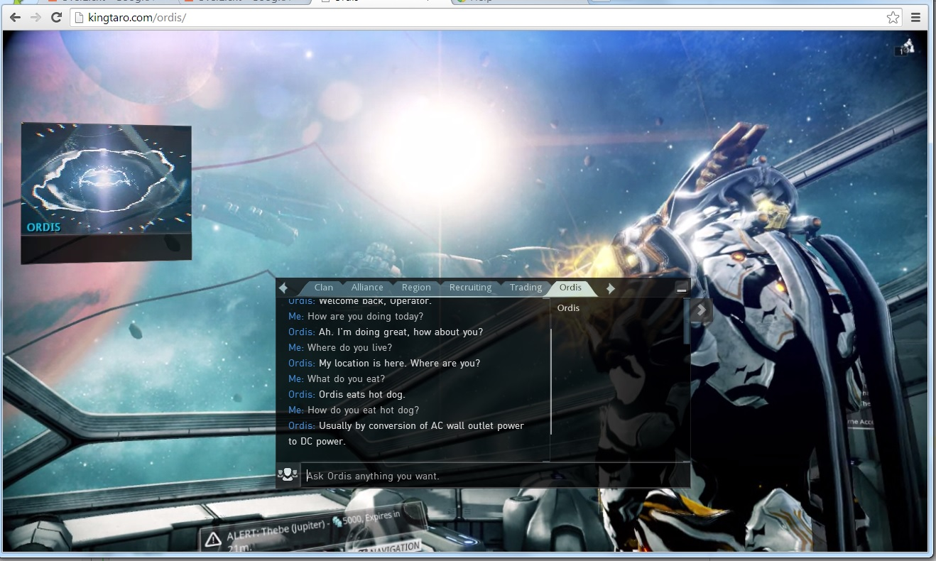 Ordis chat web app by KingTaro